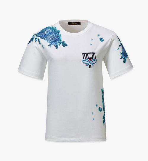 T-Shirt mit Tech-Flower-Print für Damen