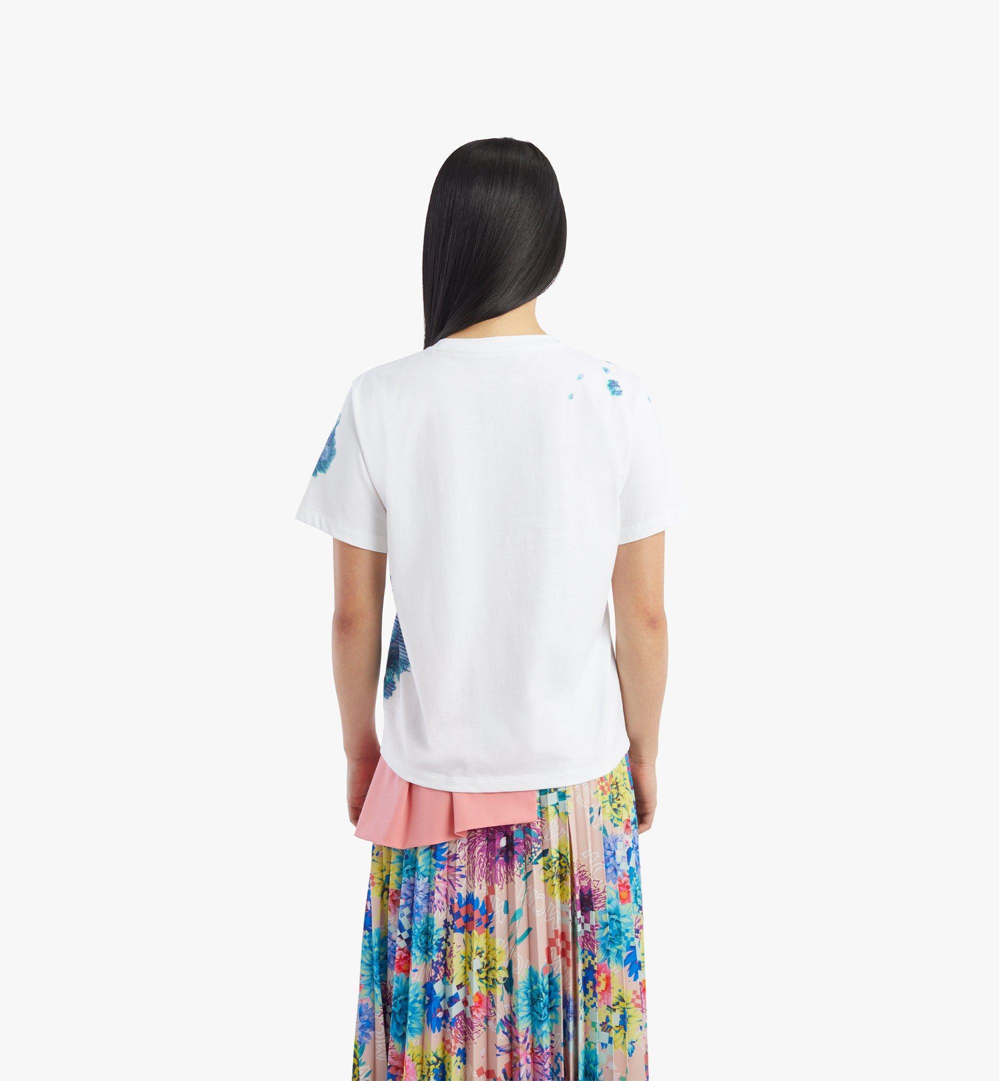 MCM Women's Tech Flower Print T-Shirt White MFTBSMM09WT00L Alternate View 3