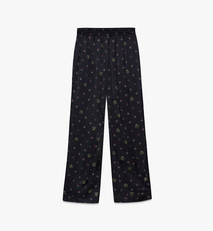MCM Women's Disco Diamond Print Pajama Bottom Black MFXASMV01BT038 Alternate View 2