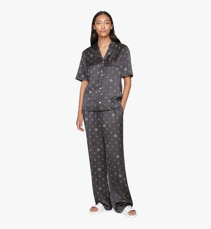 MCM Women's Disco Diamond Print Pajama Bottom Black MFXASMV01BT038 Alternate View 3