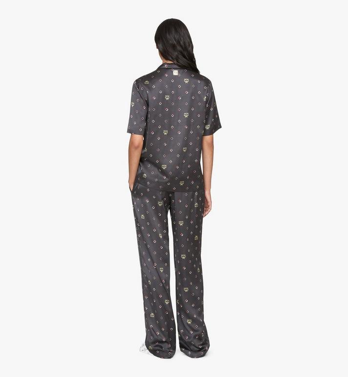 MCM Women's Disco Diamond Print Pajama Bottom Black MFXASMV01BT038 Alternate View 4