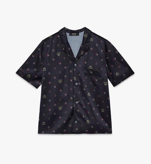 ウィメンズ ディスコ ダイヤモンドプリント パジャマシャツ