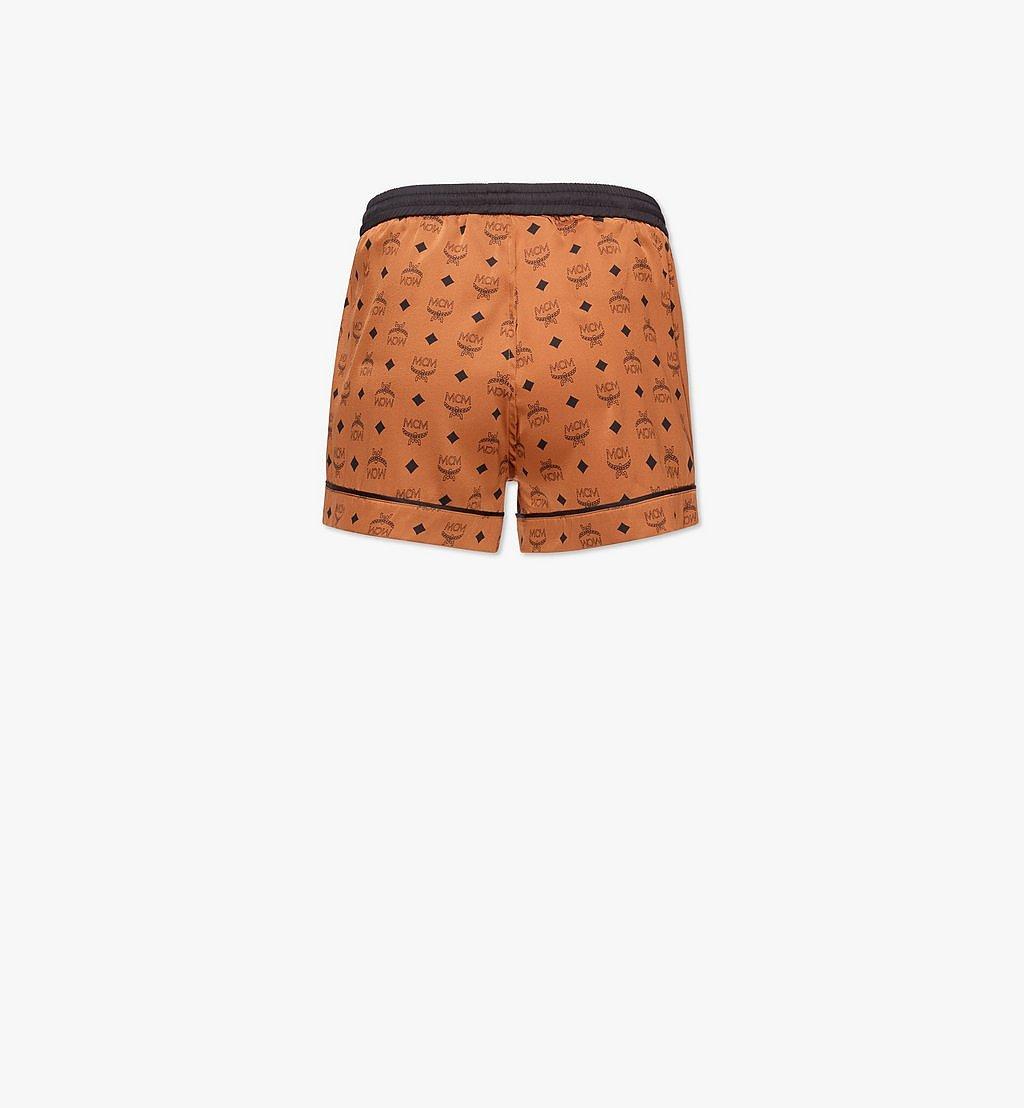 MCM Women's Silk Sleep Shorts Cognac MFXBSMM02CO00L Alternate View 1