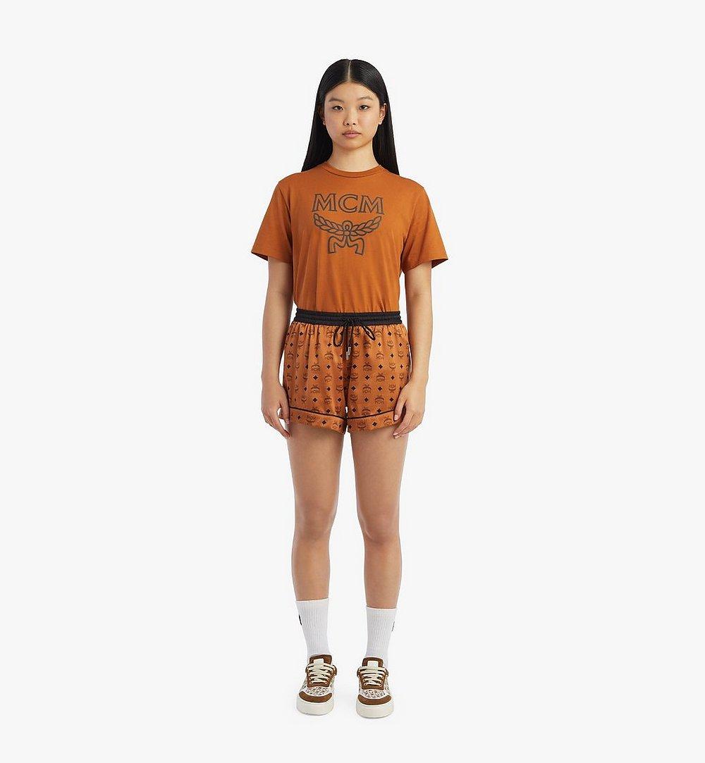 MCM Women's Silk Sleep Shorts Cognac MFXBSMM02CO00L Alternate View 3