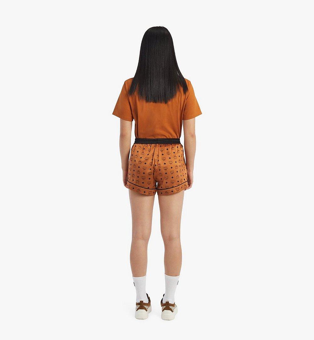 MCM Women's Silk Sleep Shorts Cognac MFXBSMM02CO00L Alternate View 2
