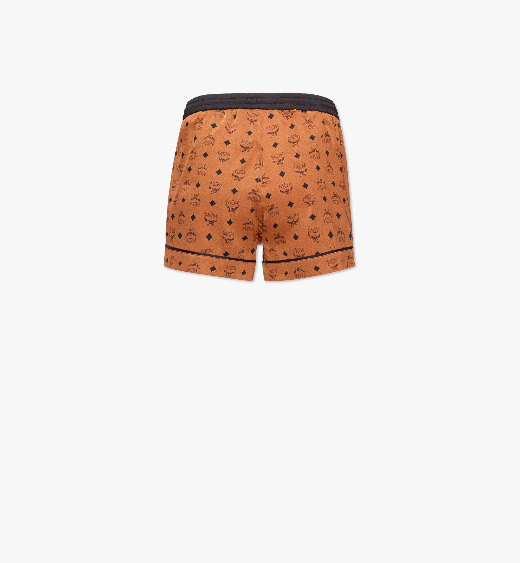 MCM Women's Silk Sleep Shorts Cognac MFXBSMM02CO00M Alternate View 1