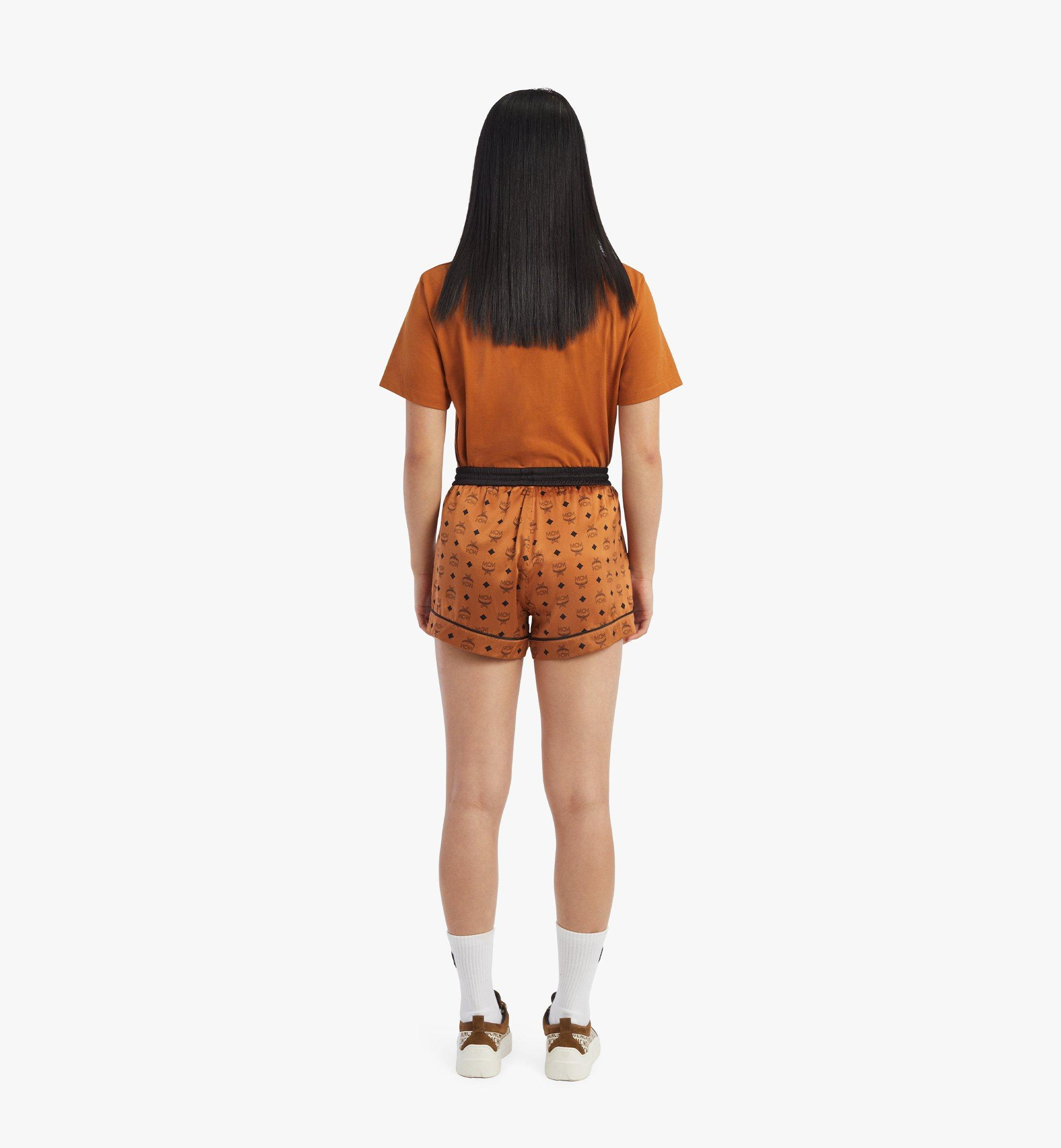 MCM Women's Silk Sleep Shorts Cognac MFXBSMM02CO00M Alternate View 2