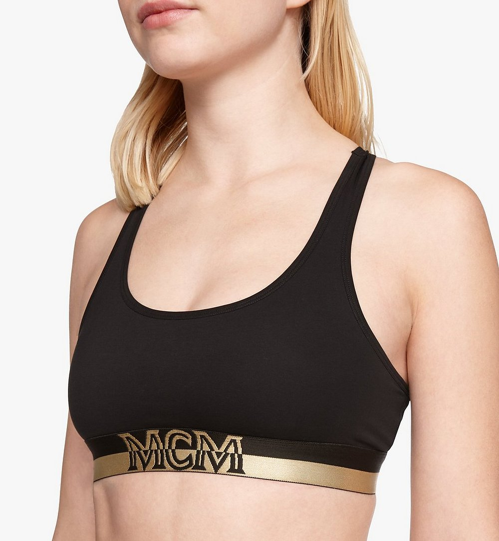 MCM Women's 1976 Sports Bra Black MFYASBM02BK00S Alternate View 1