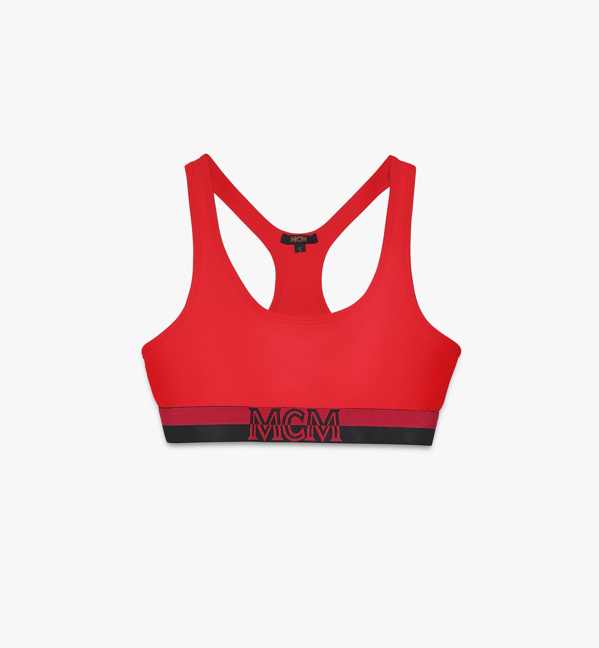 MCM Women's 1976 Sports Bra Red MFYASBM02RE00L Alternate View 1