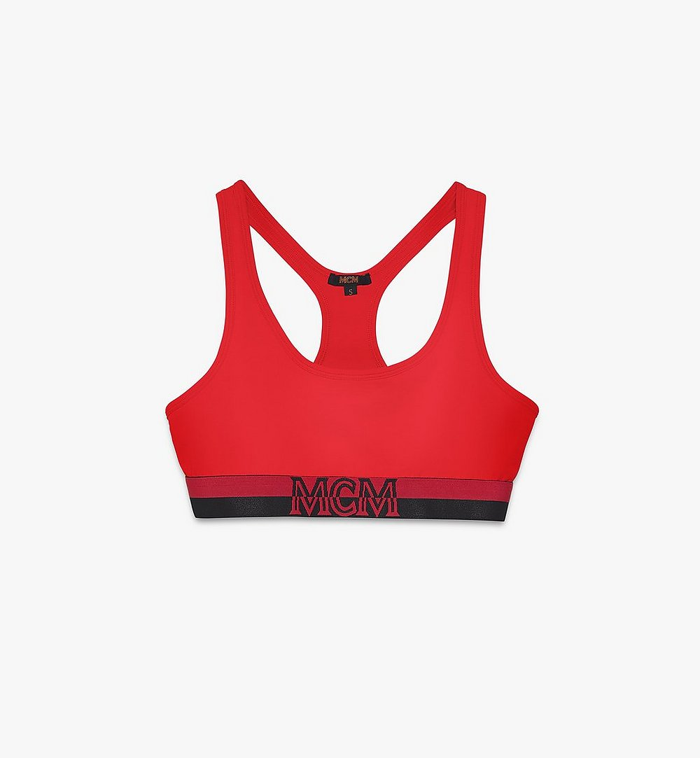 MCM Women's 1976 Sports Bra Red MFYASBM02RE00M Alternate View 1