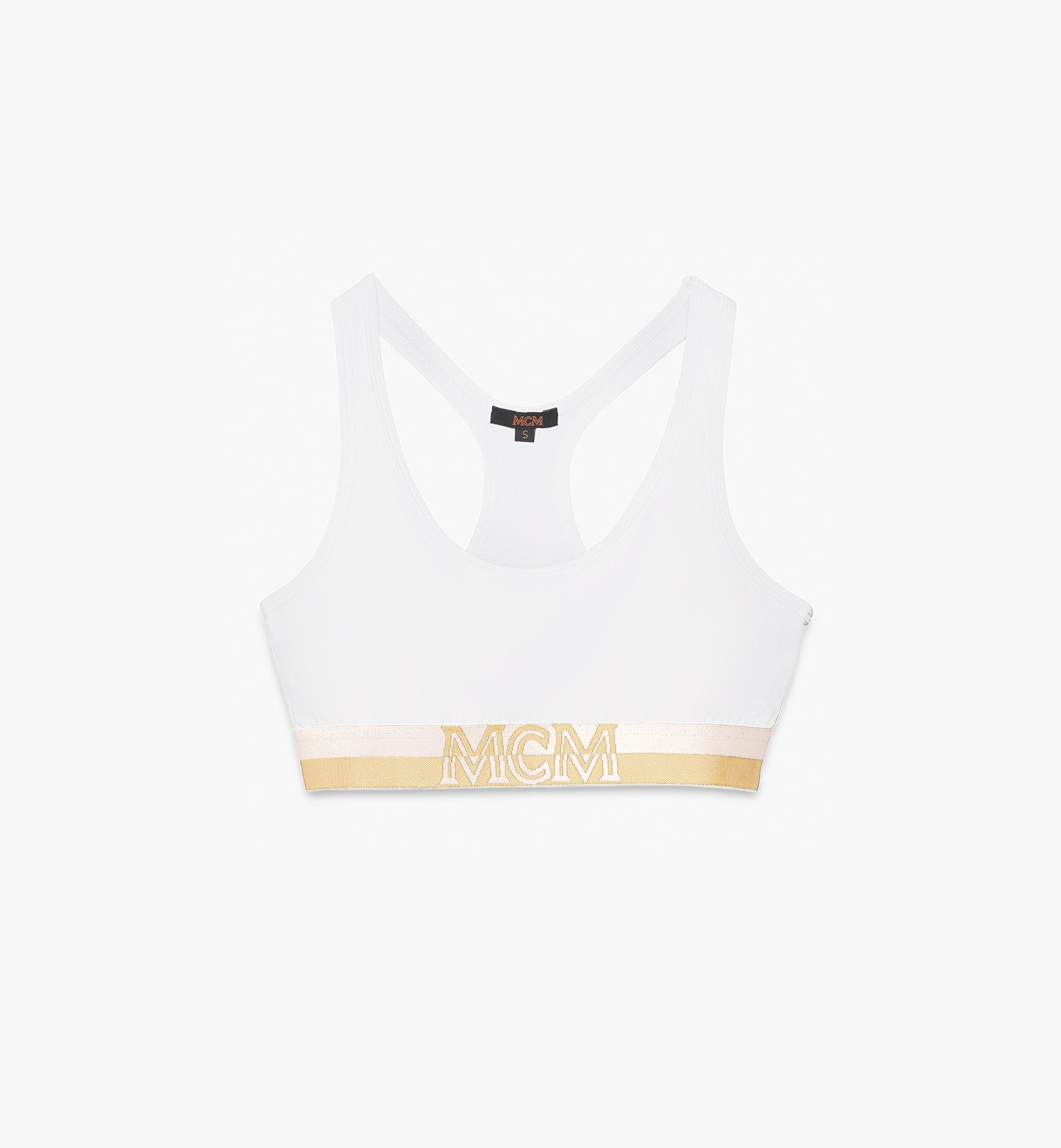 MCM Women's 1976 Sports Bra White MFYASBM02WT00L Alternate View 1