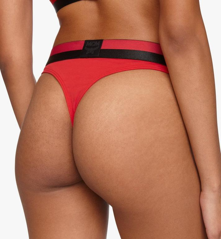 MCM Women's 1976 Thong Red MFYASBM03RE00L Alternate View 5