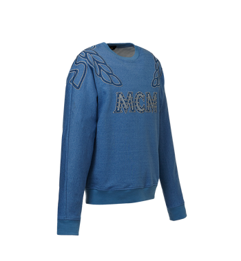 MCM MCM Denim Logo Sweatshirt  MHA8ADS57HD00M Alternate View 2