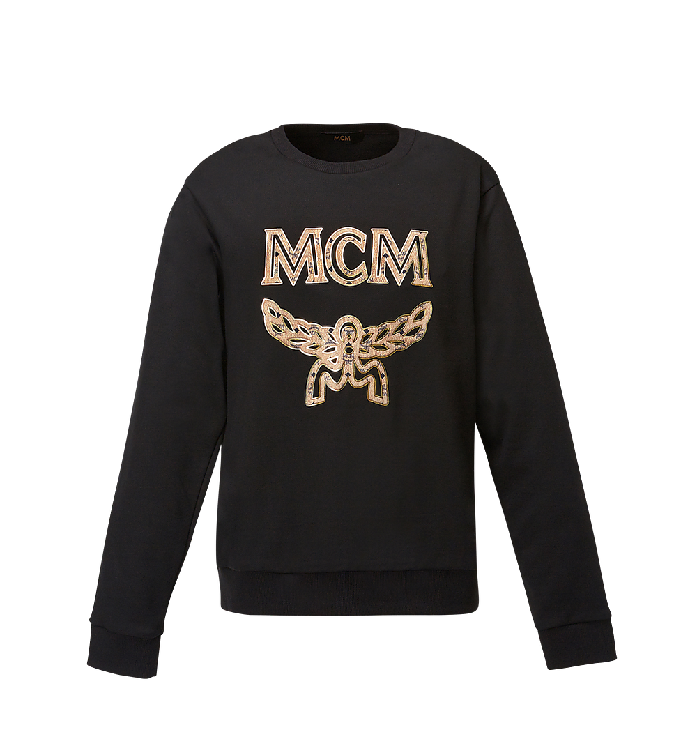 MCM Men's Classic Logo Sweatshirt Black MHA8SMM12BK00L Alternate View 1
