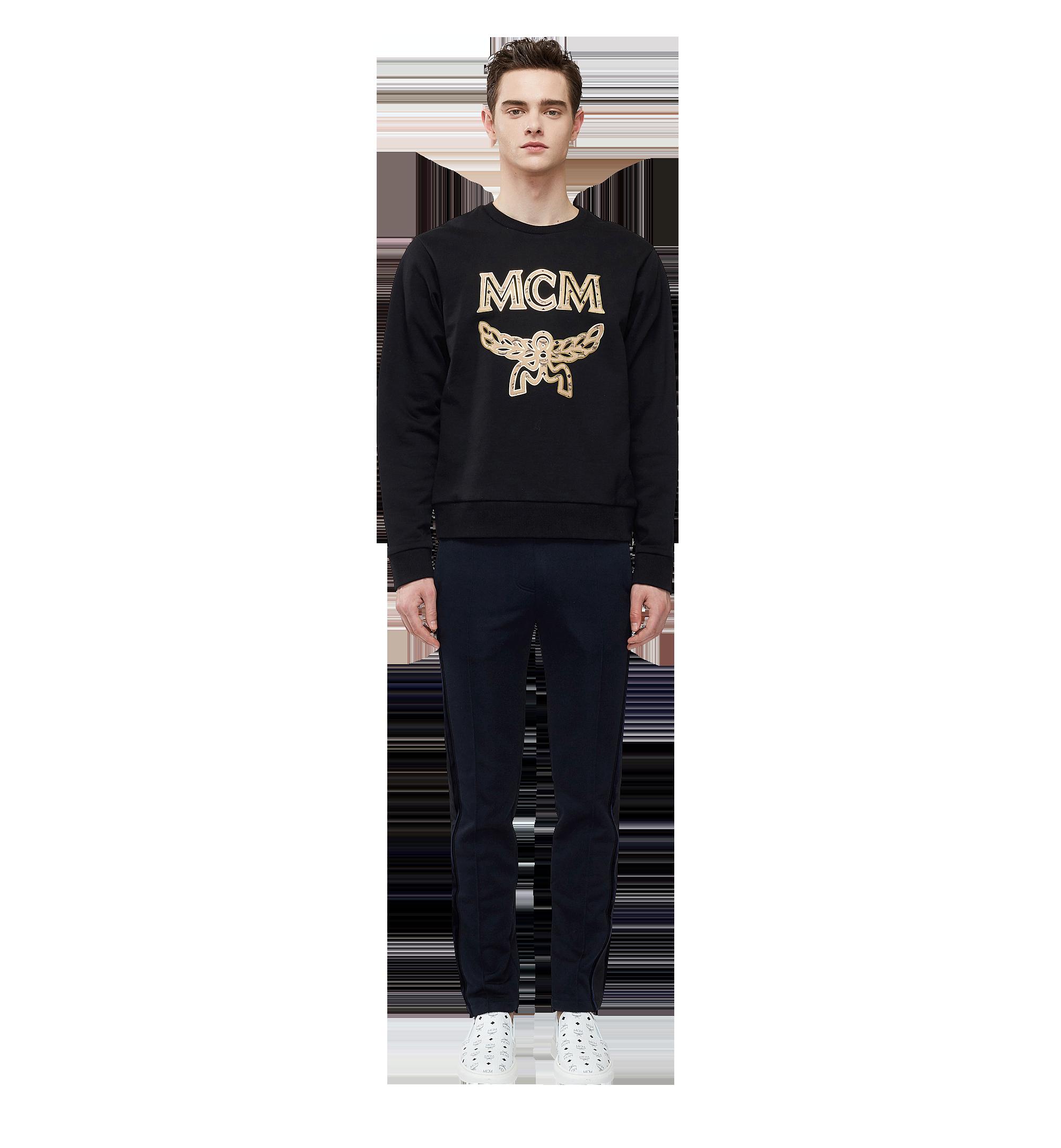 MCM Men's Classic Logo Sweatshirt Black MHA8SMM12BK00M Alternate View 3