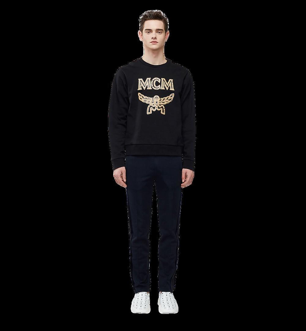MCM Men's Classic Logo Sweatshirt Black MHA8SMM12BK0XL Alternate View 3