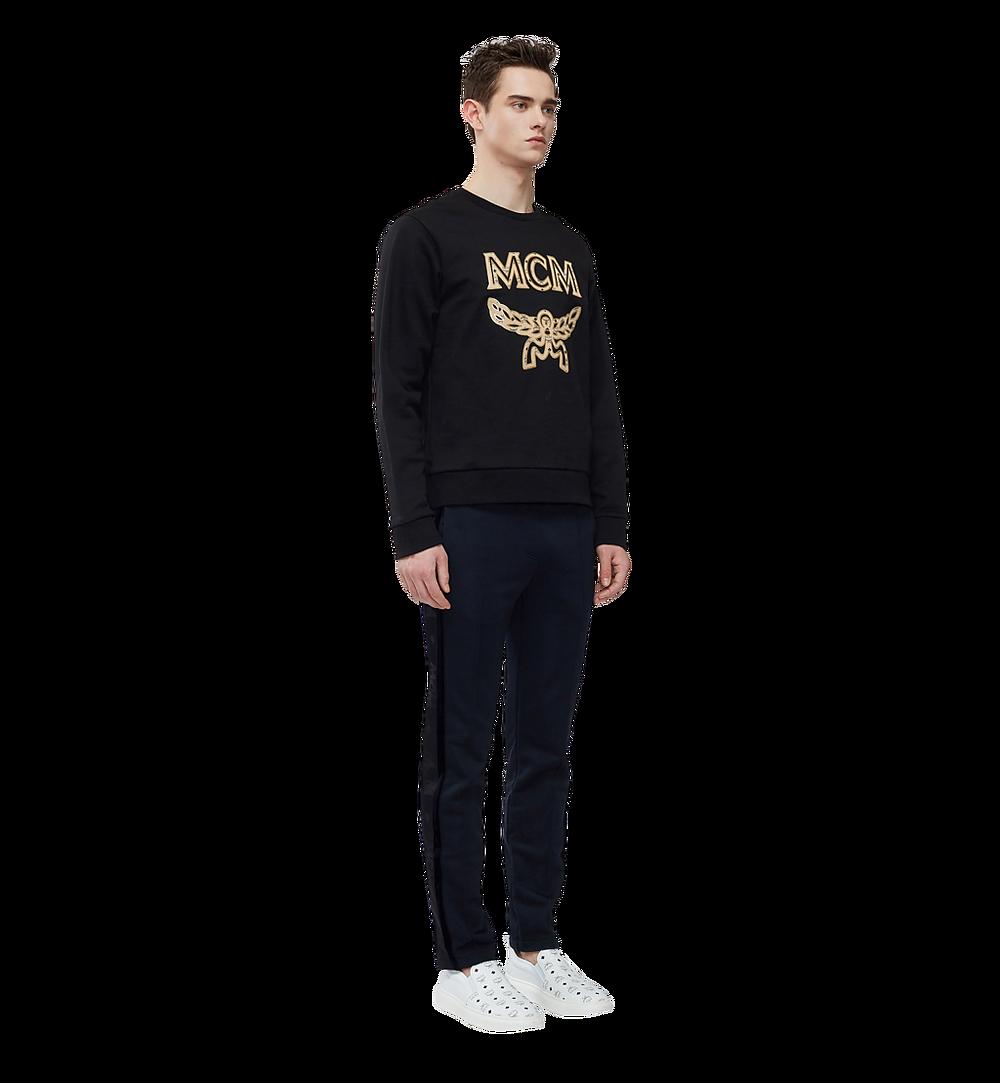 MCM Men's Classic Logo Sweatshirt Black MHA8SMM12BK0XL Alternate View 4