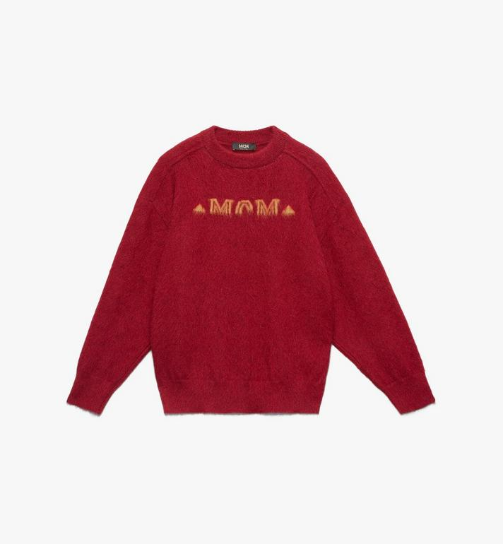 MCM Men's Milano Half Logo Sweatshirt  MHA9ADA76RU00L Alternate View 1