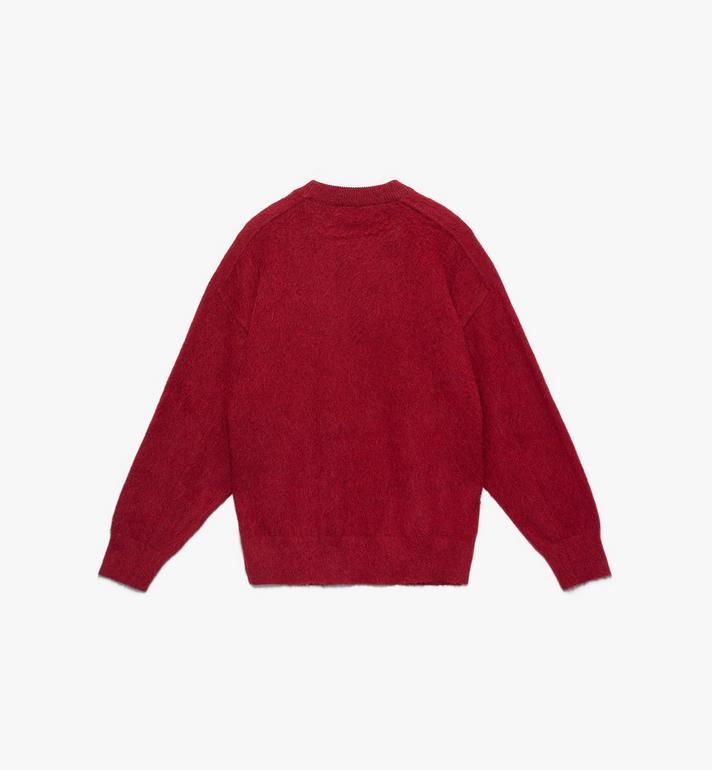 MCM Men's Milano Half Logo Sweatshirt Red MHA9ADA76RU00S Alternate View 2