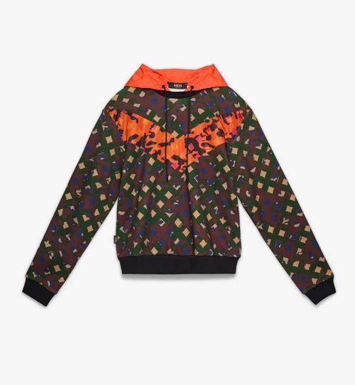 Herren-Sweatshirt aus Nylon mit Kapuze und Camouflage-Print