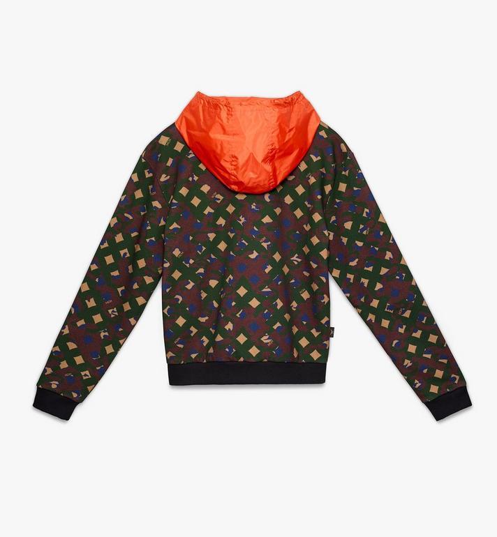 MCM Herren-Sweatshirt aus Nylon mit Kapuze und Camouflage-Print  MHA9AMM14G600L Alternate View 2