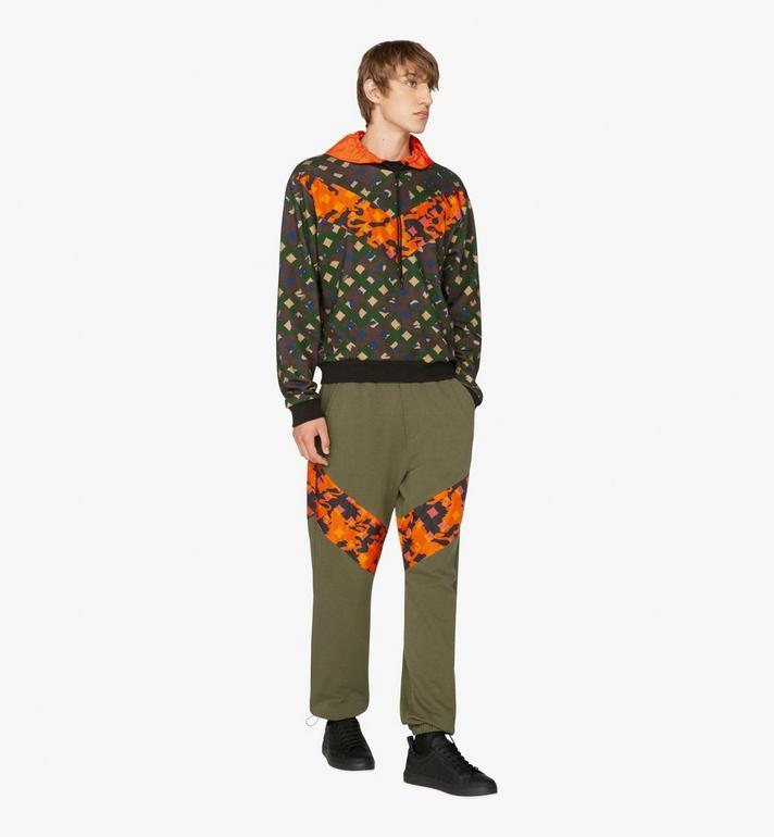MCM Herren-Sweatshirt aus Nylon mit Kapuze und Camouflage-Print  MHA9AMM14G600L Alternate View 3