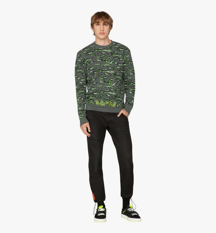 MCM Men's Pop Milano Sweatshirt Green MHA9APS59GR00M Alternate View 3