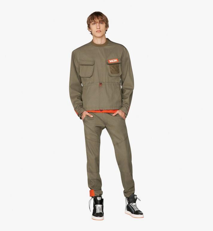MCM Men's Resnick Utility Sweatshirt Green MHA9ARA34G80XL Alternate View 3