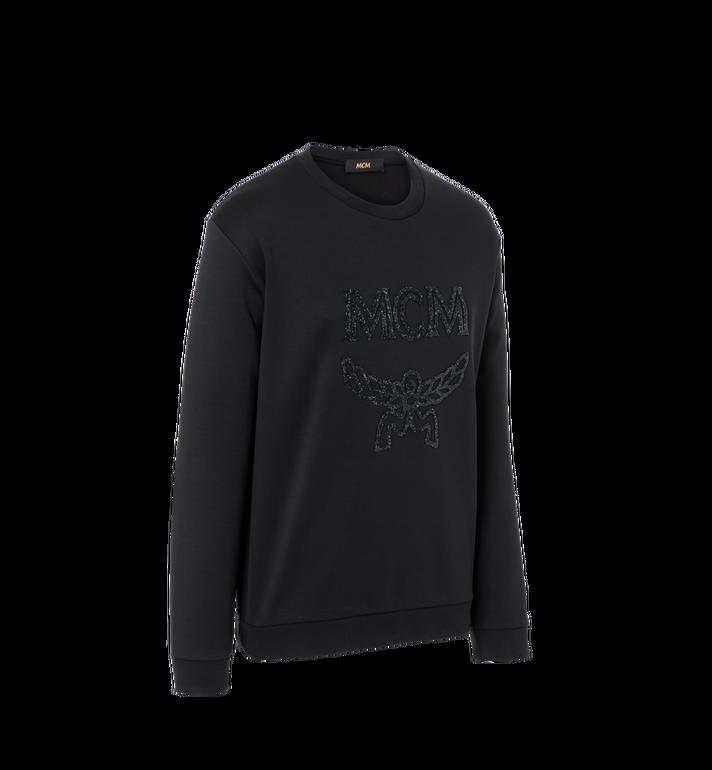 MCM Men's Crystal Detail Logo Sweatshirt Black MHA9SMM92BK00L Alternate View 2