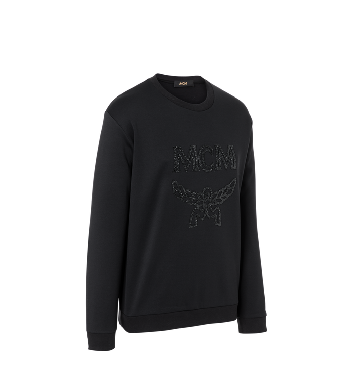 MCM Men's Crystal Detail Logo Sweatshirt Alternate View 2