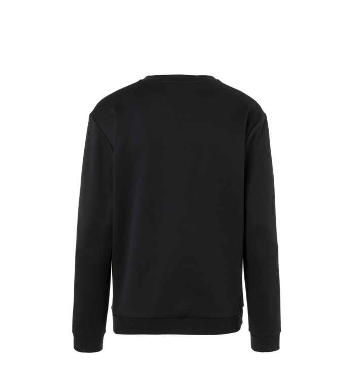 MCM Men's Crystal Detail Logo Sweatshirt Black MHA9SMM92BK00L Alternate View 3