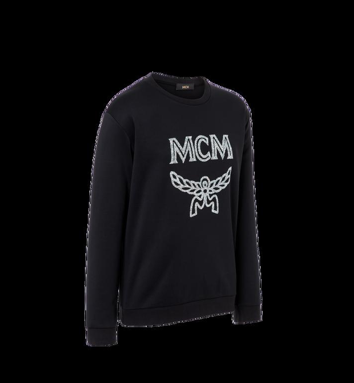 MCM Men's Crystal Detail Logo Sweatshirt Black MHA9SMM94BK00L Alternate View 2