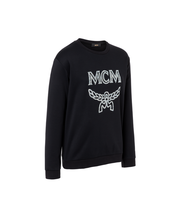 MCM Herren-Sweatshirt mit Crystal Detail Logo Black MHA9SMM94BK00L Alternate View 2