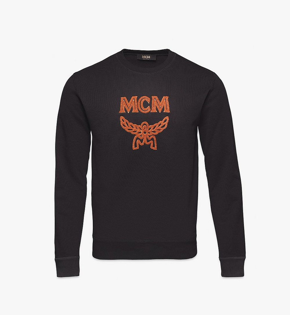 MCM Men's Classic Logo Sweater Black MHAASMM01BK00L Alternate View 1