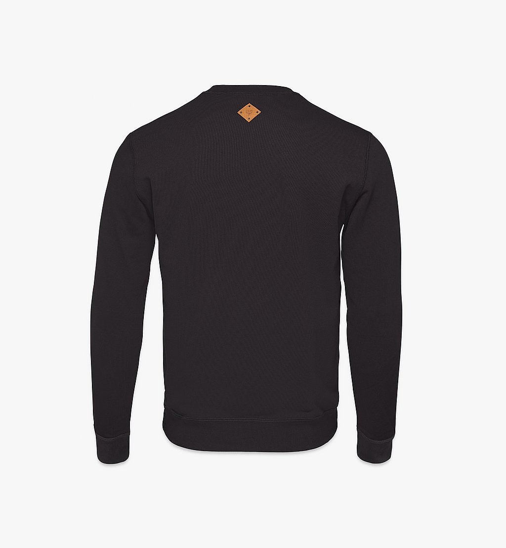 MCM Men's Classic Logo Sweater Black MHAASMM01BK00M Alternate View 1