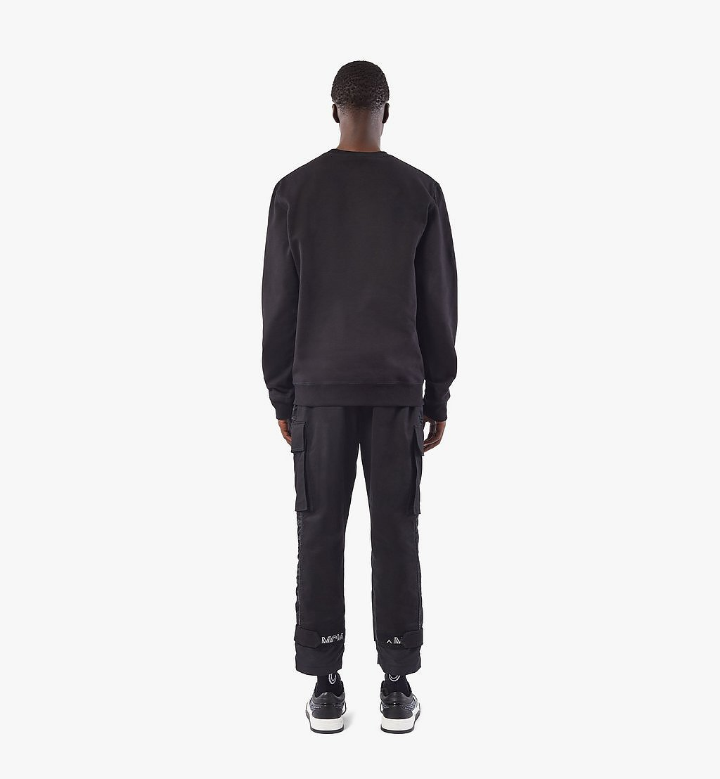 MCM Men's Classic Logo Sweater Black MHAASMM01BK00M Alternate View 3
