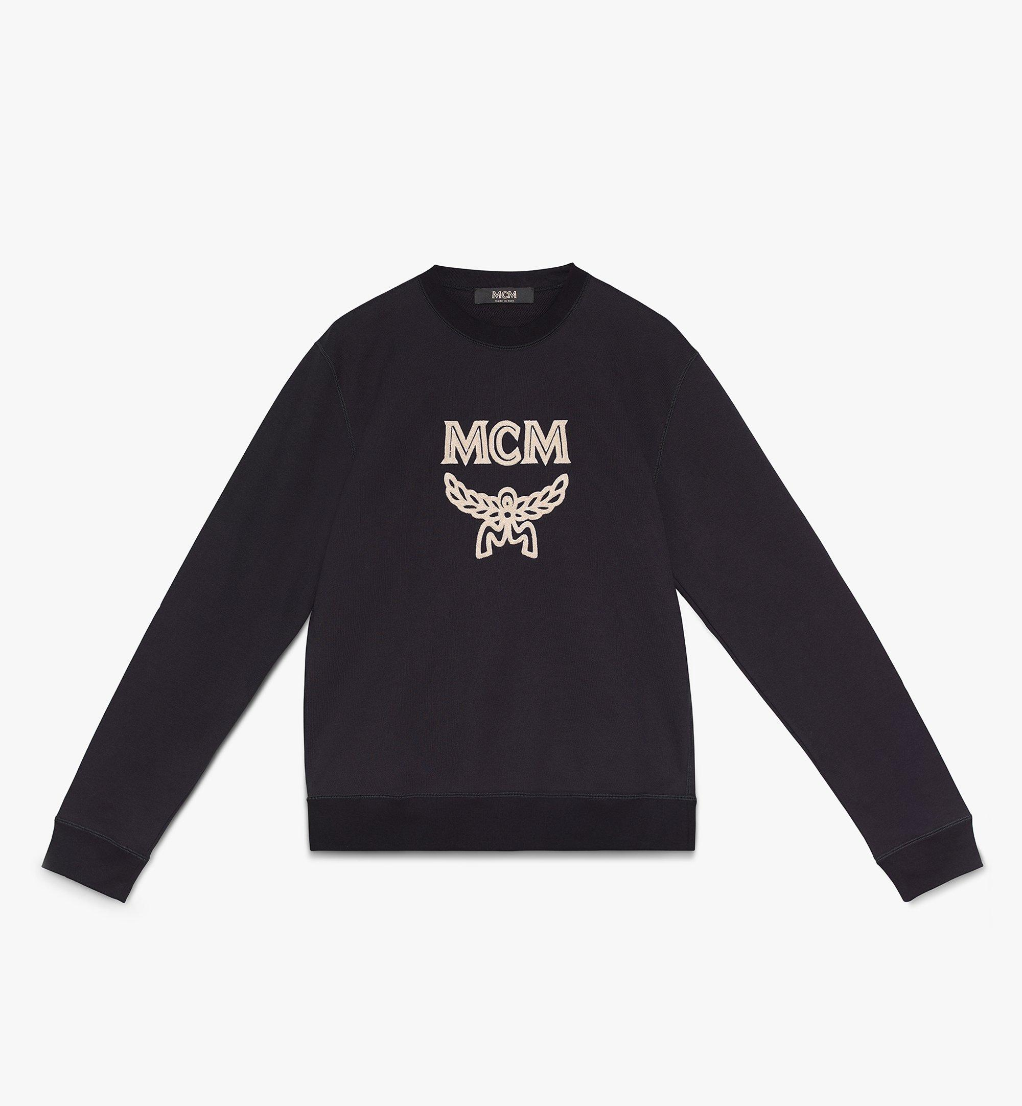 MCM Men's Logo Sweatshirt Black MHAASMM01BT00L Alternate View 1