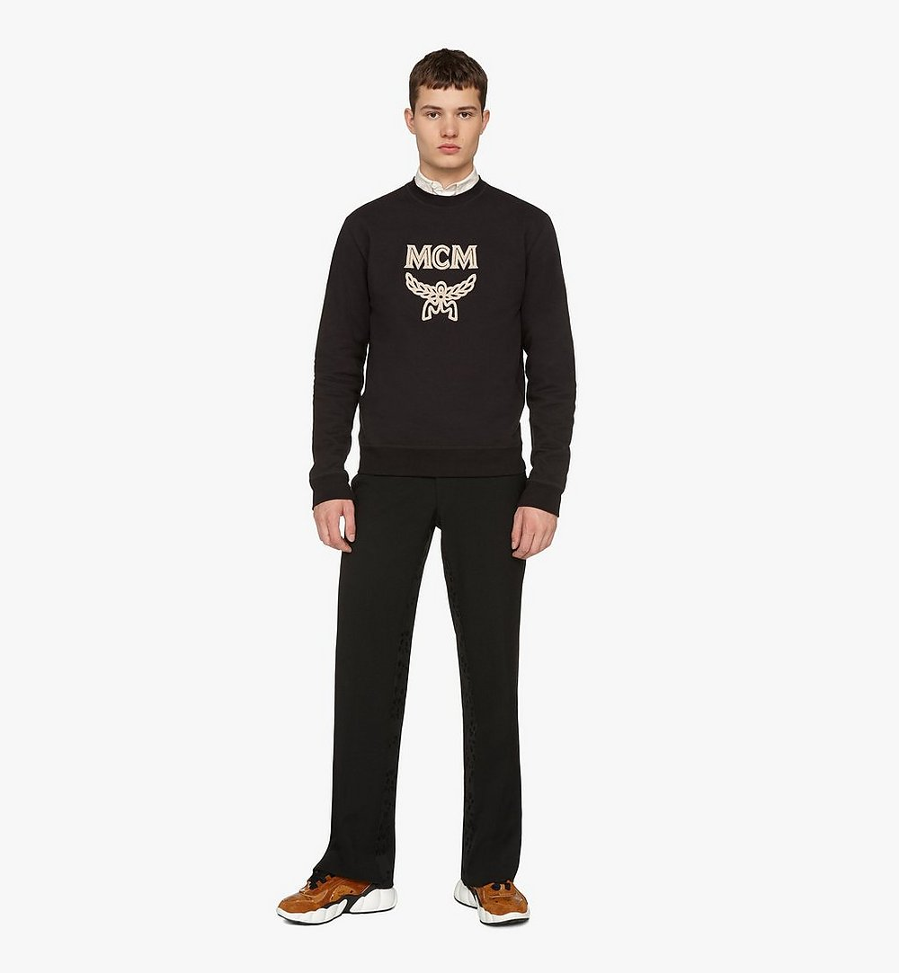 MCM Men's Logo Sweatshirt Black MHAASMM01BT00L Alternate View 2
