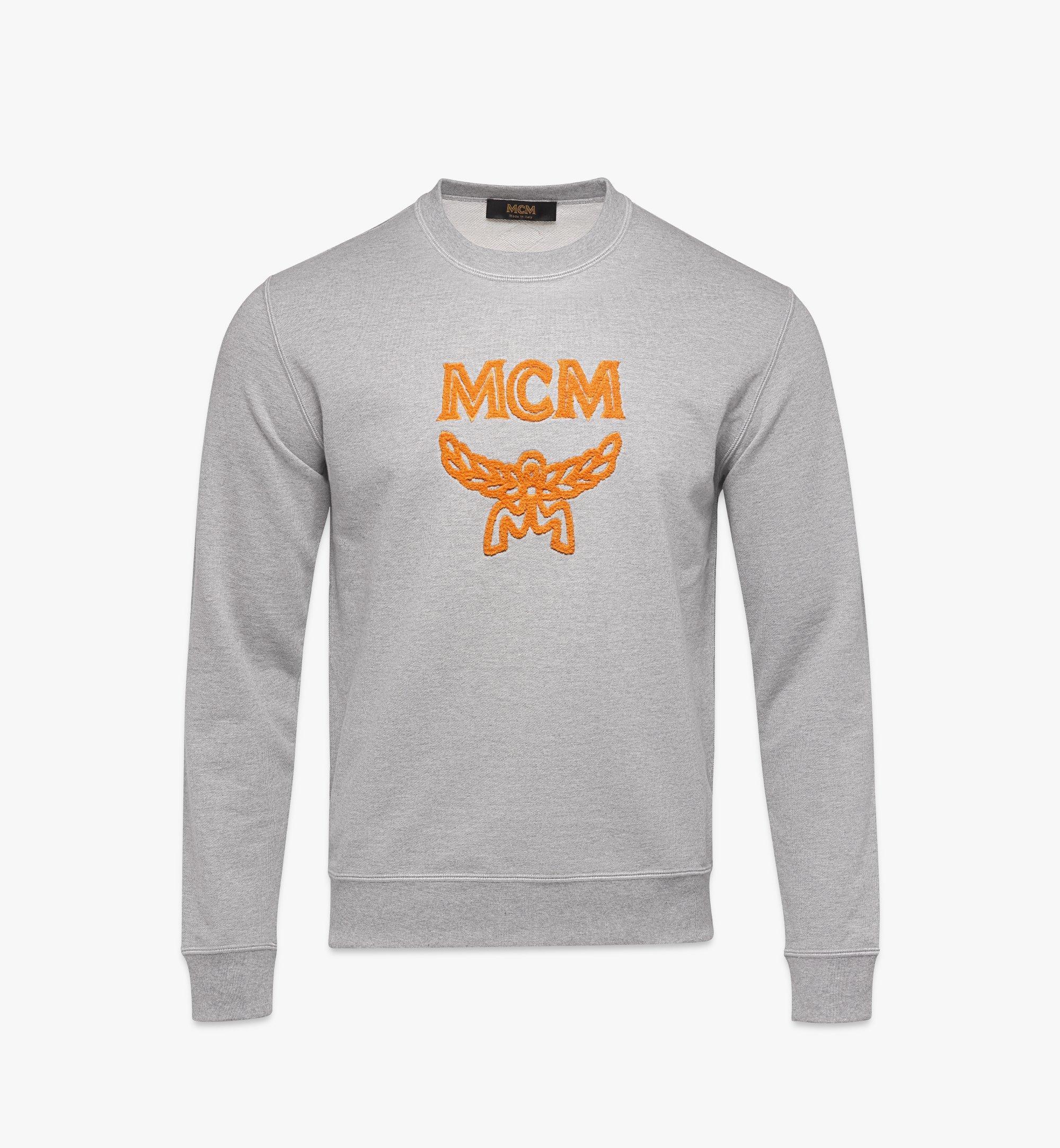 MCM Men's Classic Logo Sweater Black MHAASMM01FM00L Alternate View 1