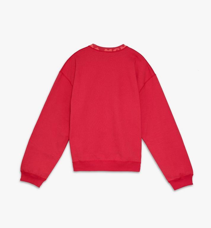 MCM 남성용 로고 트림 스웨트 셔츠 Red MHAASMM02R400M Alternate View 2