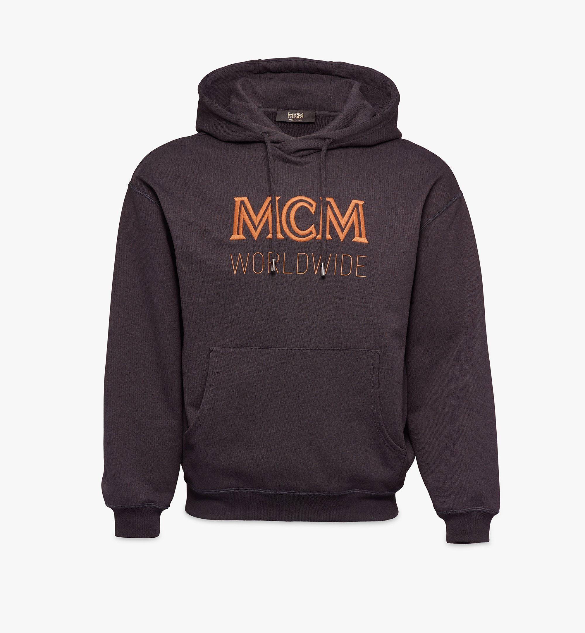 MCM Men's Logo Hoodie Black MHAASMM03BK00L Alternate View 1