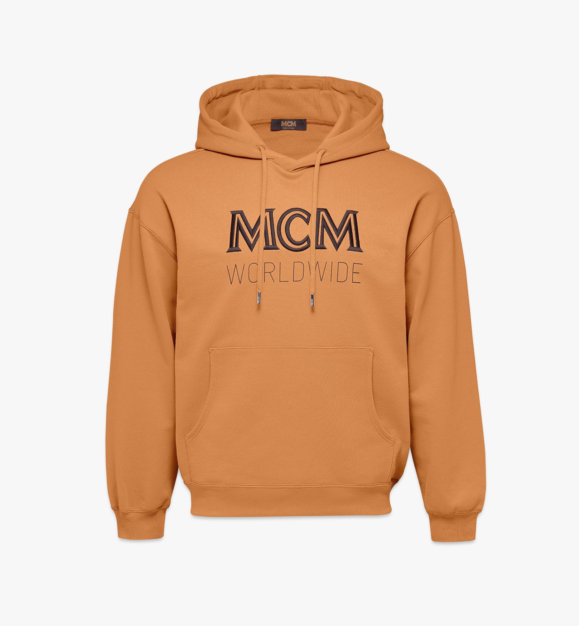MCM Men's Logo Hoodie Brown MHAASMM03N400L Alternate View 1