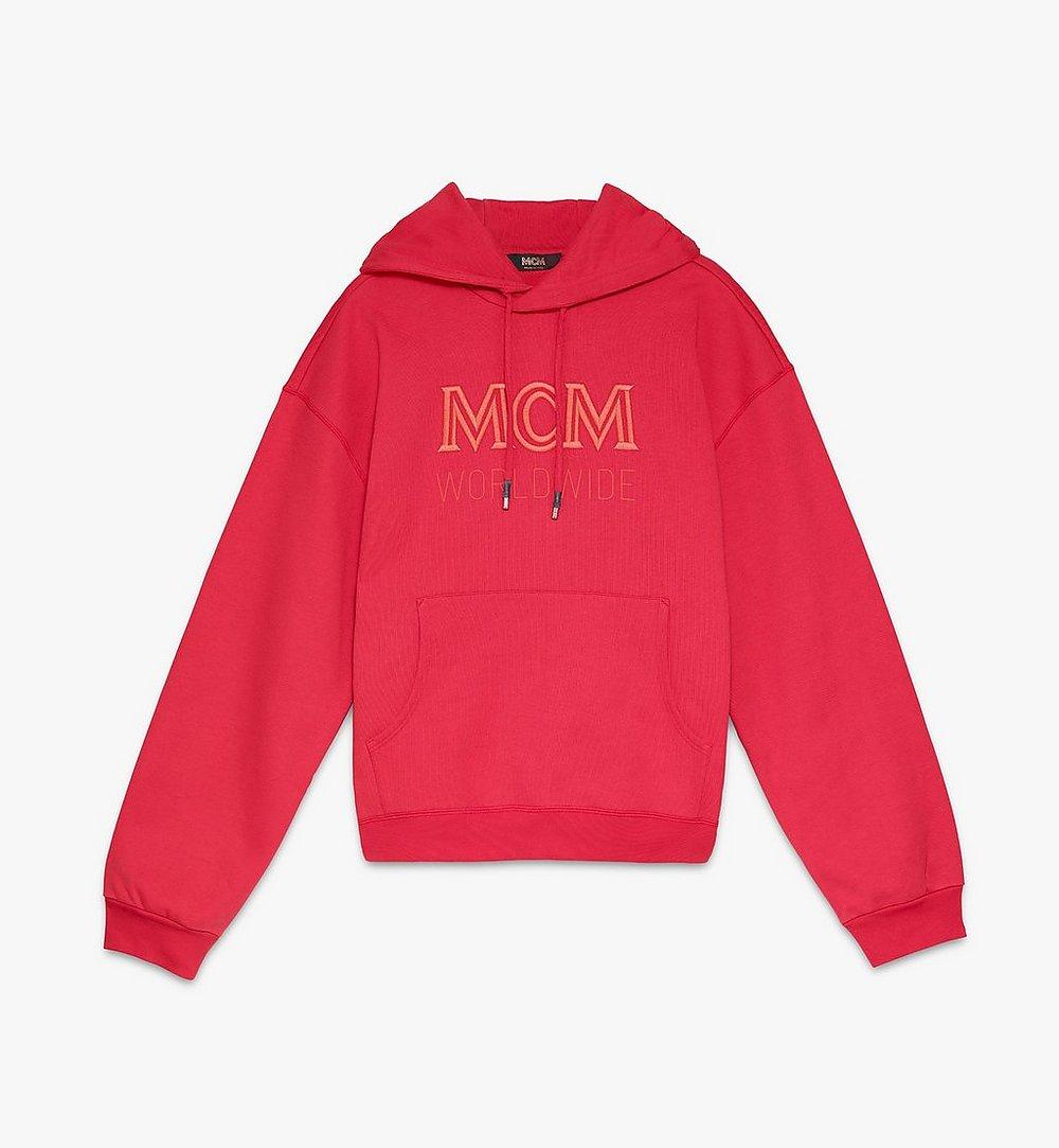 MCM Men's MCM Worldwide Hoodie Red MHAASMM03R400M Alternate View 1