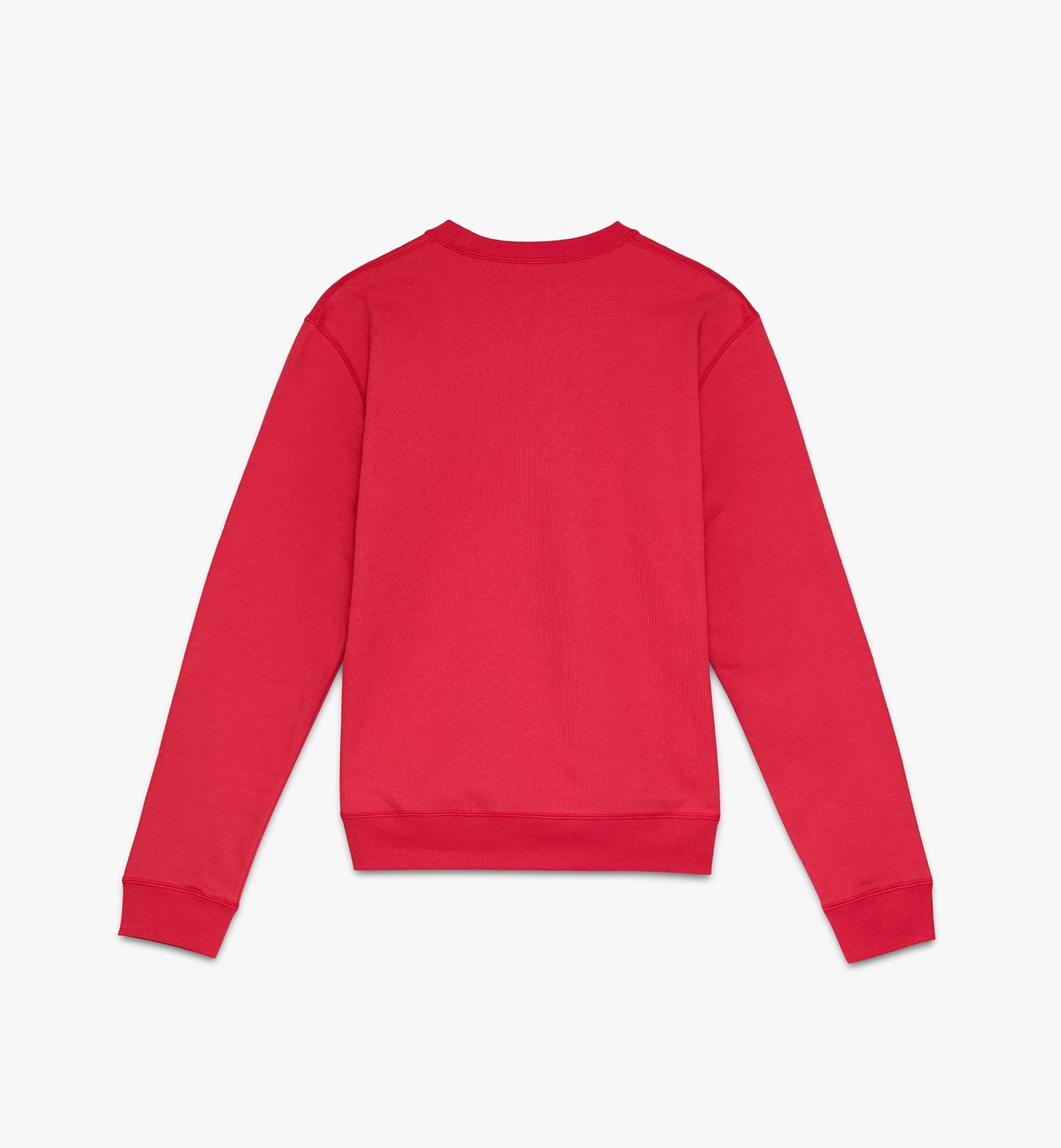 MCM Men's Year Of The Mouse Mockneck Sweatshirt Red MHAASSE02R400L Alternate View 1