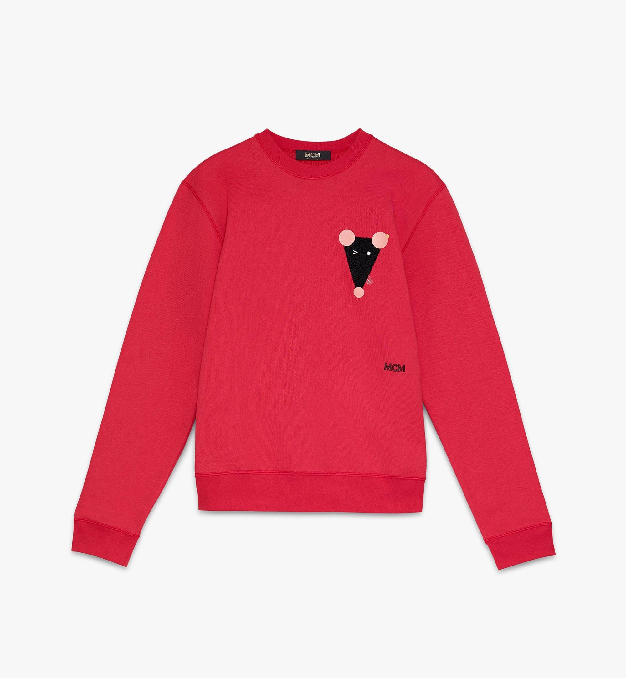MCM Men's Year Of The Mouse Mockneck Sweatshirt Red MHAASSE02R400M Alternate View 1