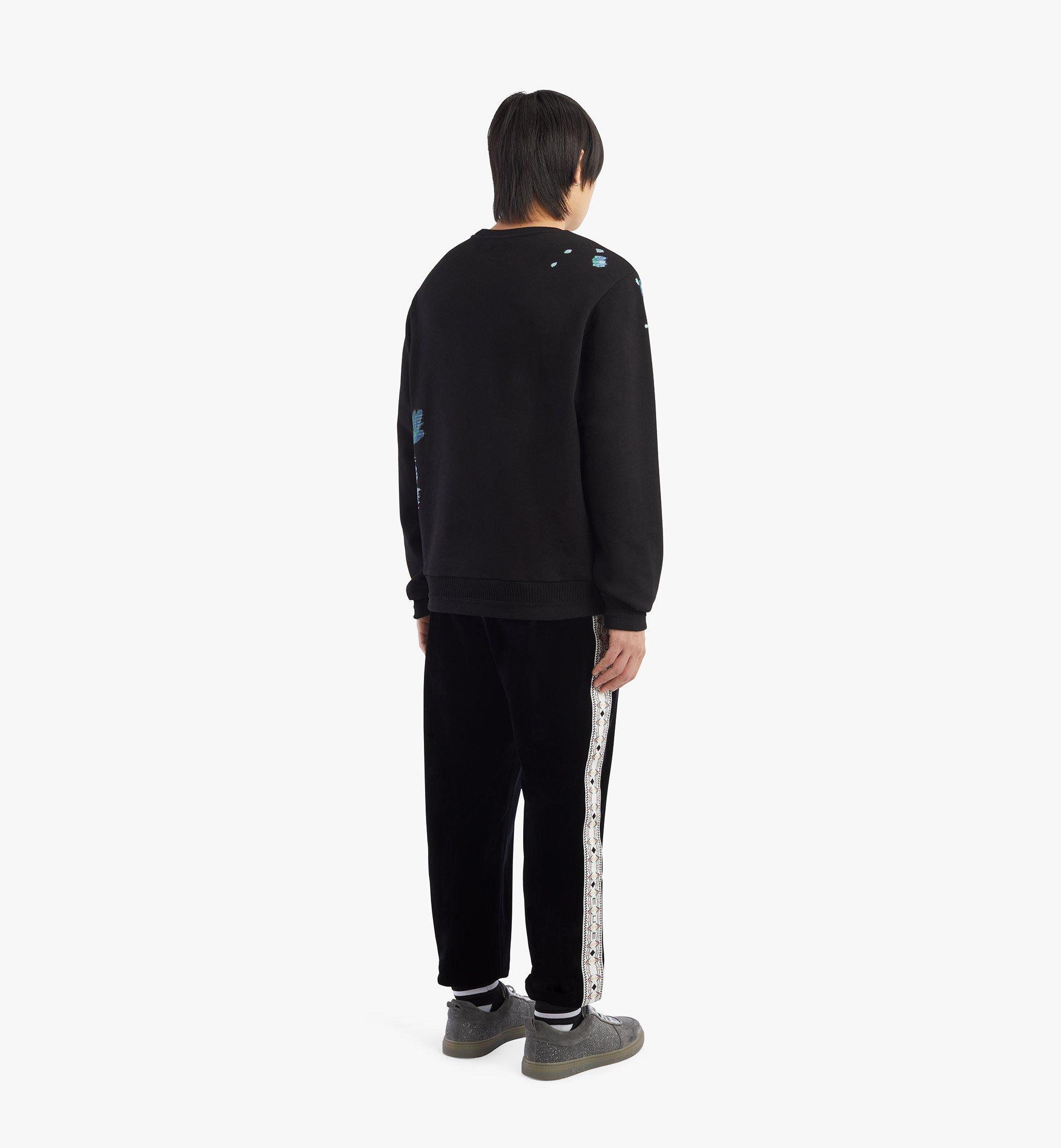MCM 男士科技花卉印花运动衫 Black MHABSMM03BK00S 更多视角 2