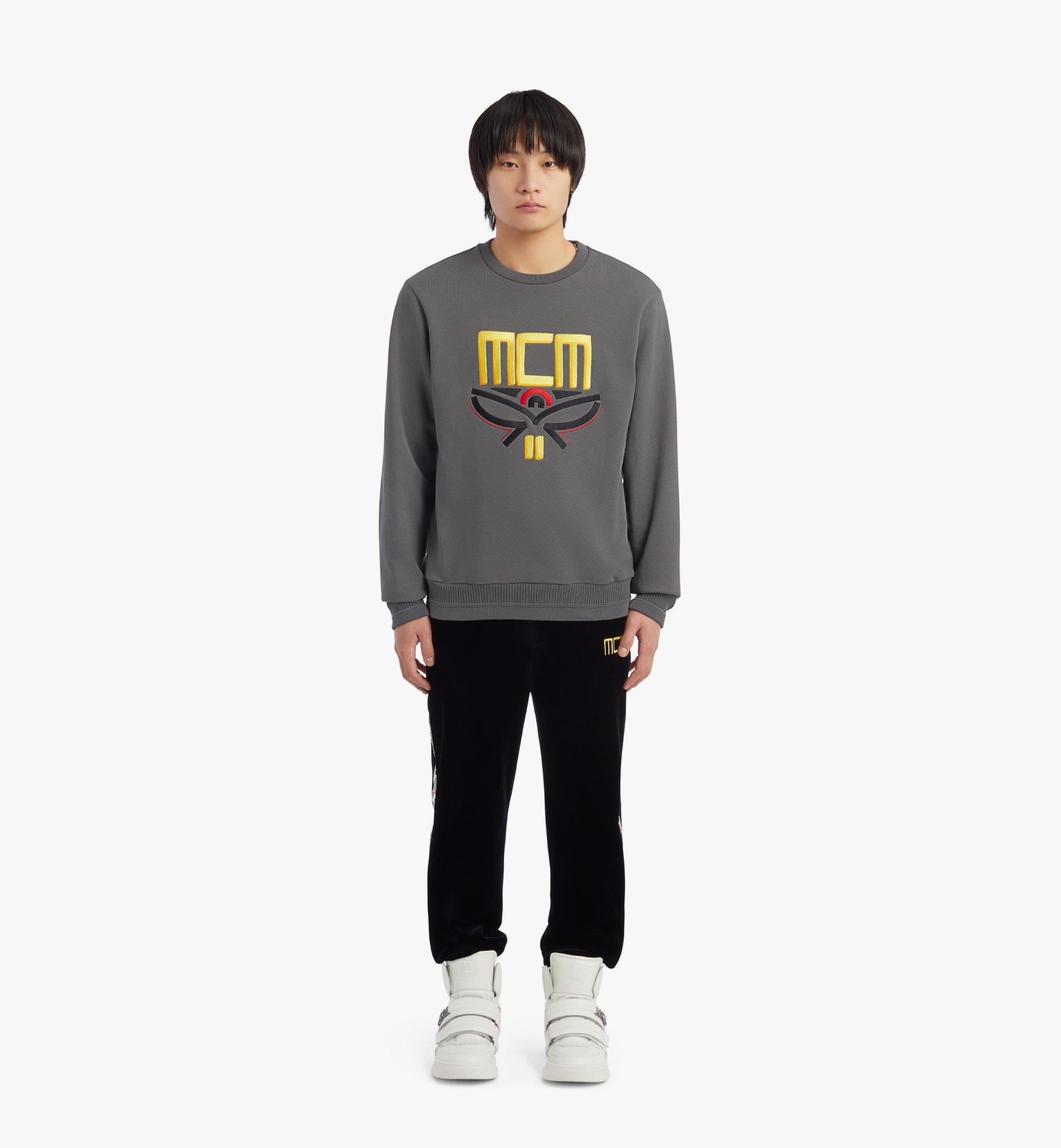 MCM Men's Geo Laurel Sweatshirt Grey MHABSMM04EC00L Alternate View 3