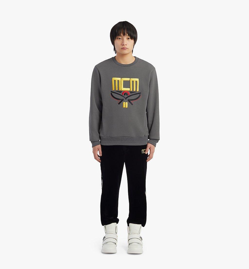 MCM Men's Geo Laurel Sweatshirt Grey MHABSMM04EC00S Alternate View 3