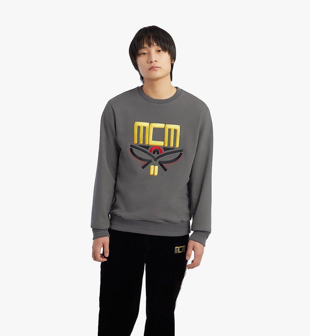 MCM Men's Geo Laurel Sweatshirt Grey MHABSMM04EC00S Alternate View 2