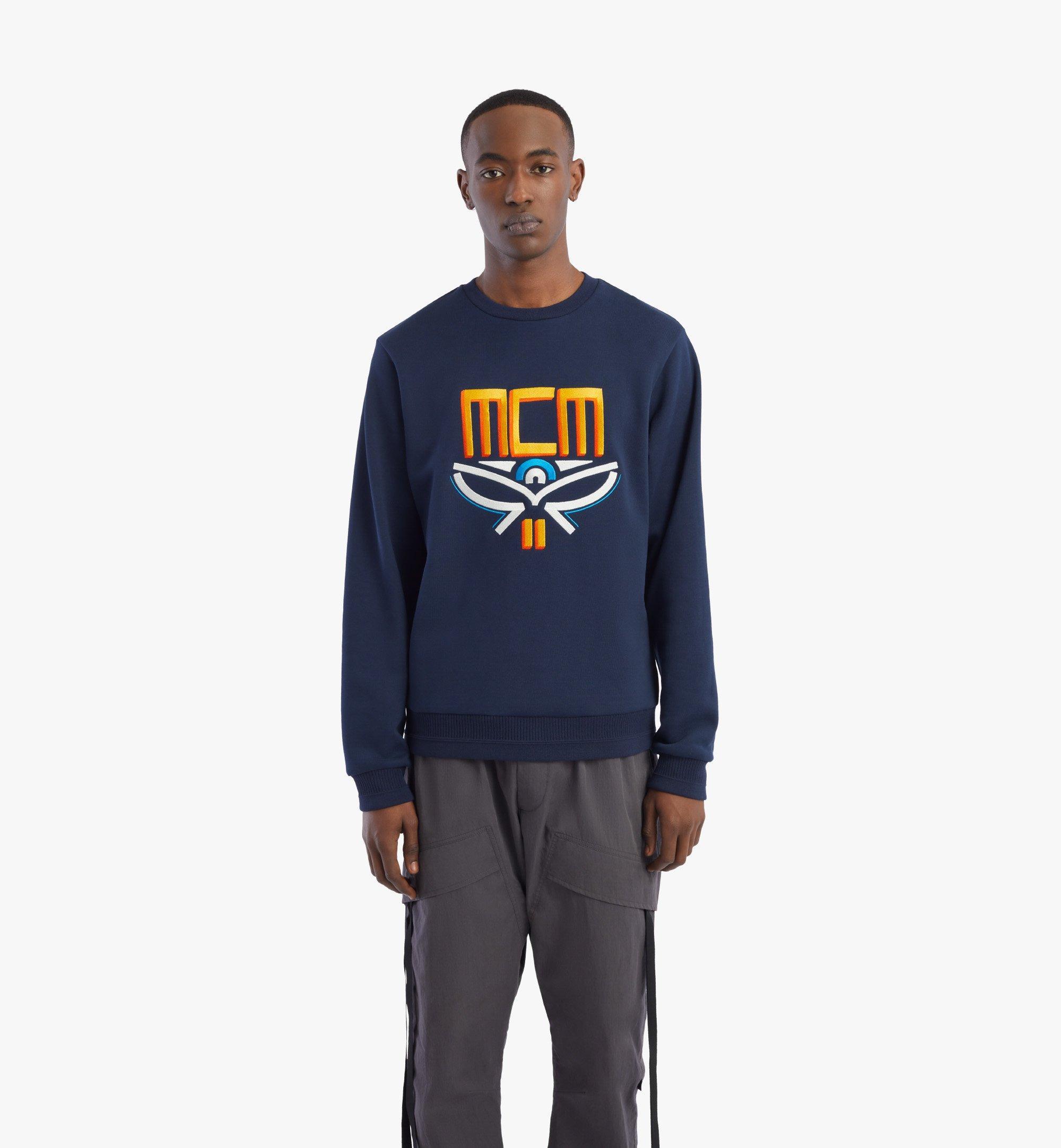 MCM 男士Geo月桂叶运动衫 Blue MHABSMM04U100M 更多视角 2